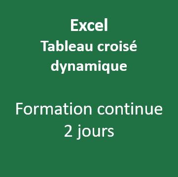 Formation Excel tableau croisé dynamique Vannes Morbihan 56