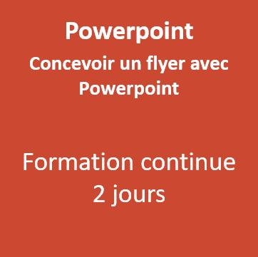 Formation PowerPoint Flyer Morbihan Vannes 56